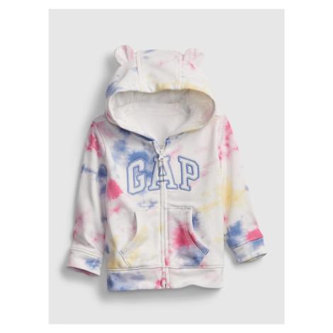 GAP kolorowy dziecięca bluza Logo tie-dye hoodie