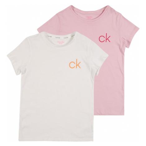 Calvin Klein Underwear Koszula nocna różowy pudrowy / biały
