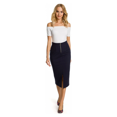 Made Of Emotion Woman's Skirt M348 Navy Blue