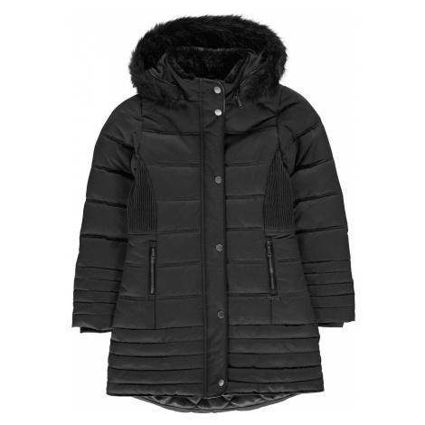 Czarne dziewczęce kurtki zimowe