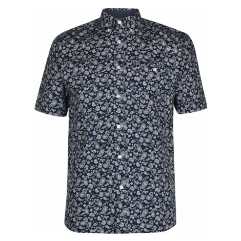 Pierre Cardin Short Sleeve Geometric Shirt Mens