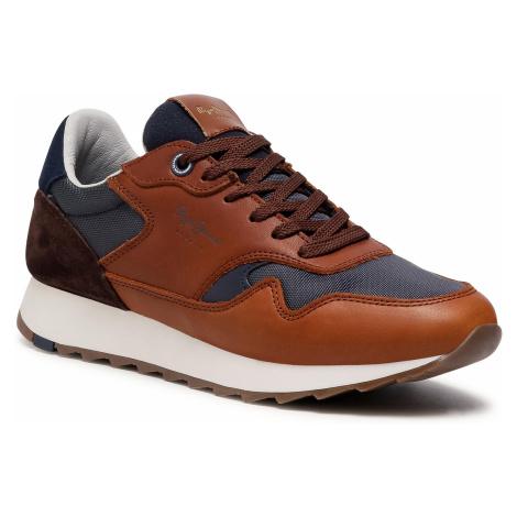 Sneakersy PEPE JEANS - Slab Urban Brown PMS30690 Tan 869