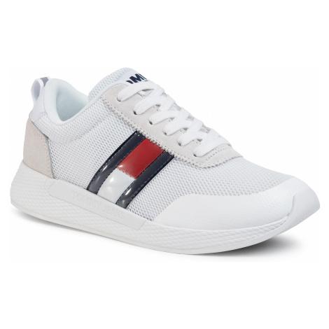 Sneakersy TOMMY JEANS - Technical Flexi Runner EN0EN00875 White YBS Tommy Hilfiger