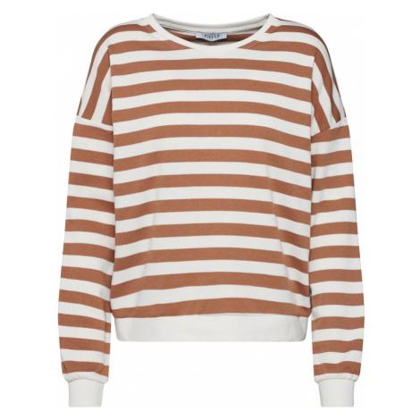 PIECES Sweter beżowy / biały