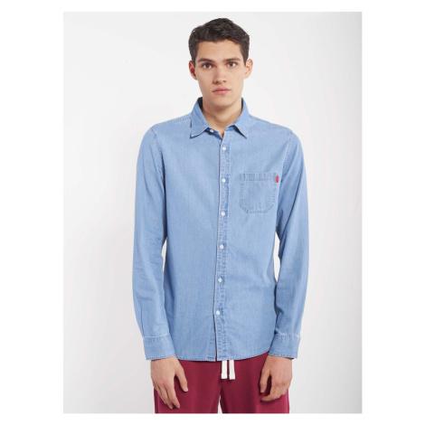 Niebieska jeansowa koszula męska Alcott