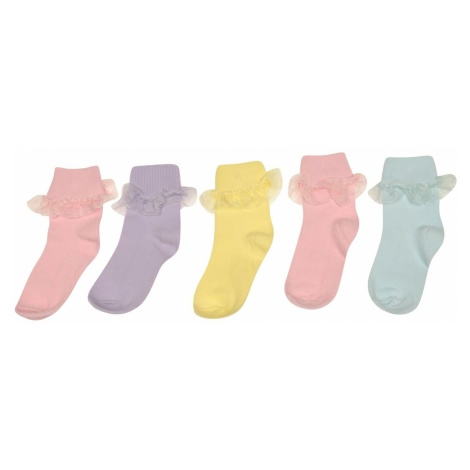 Crafted Essentials 5 Pack Frilly Socks Girls