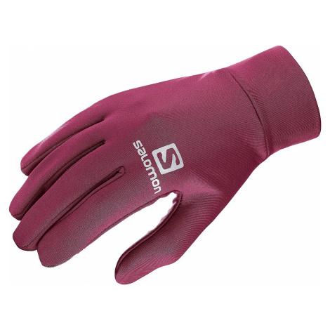 rękawice Salomon Agile Warm Glove U - Beet Red