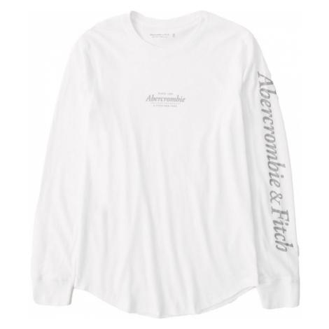 Abercrombie & Fitch Koszulka biały / kamień