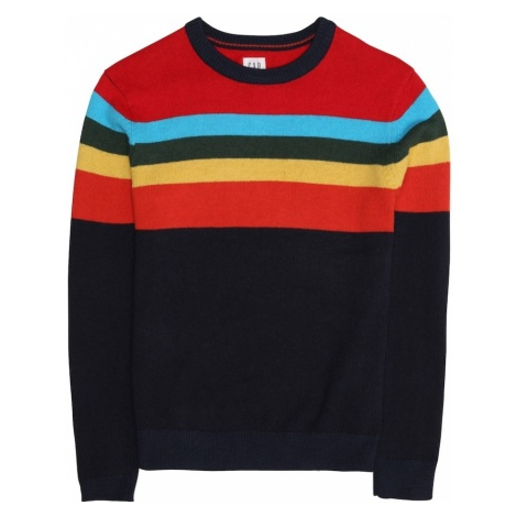 GAP Sweter niebieski / żółty / czerwony