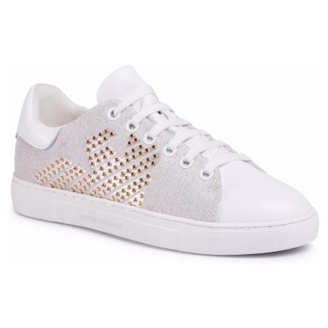 Sneakersy EMPORIO ARMANI - X3X071 XM259 R715 White/White/Lig Gold