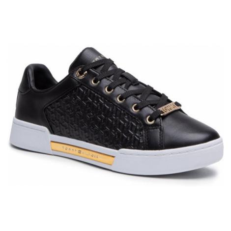 Tommy Hilfiger Sneakersy Th Monogram Elevated Sneaker FW0FW05549 Czarny
