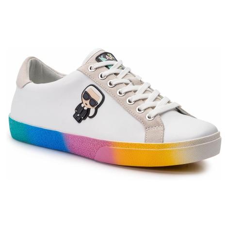 Sneakersy KARL LAGERFELD - KL60119 White Lthr