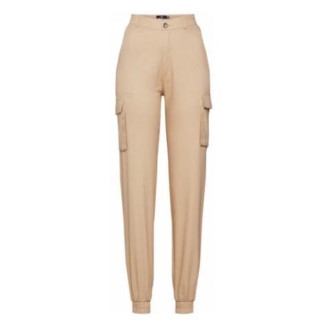 Missguided Spodnie 'PLAIN CARGO TROUSER' piaskowy