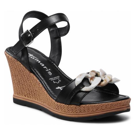 Sandały TAMARIS - 1-28317-26 Black Leather 003