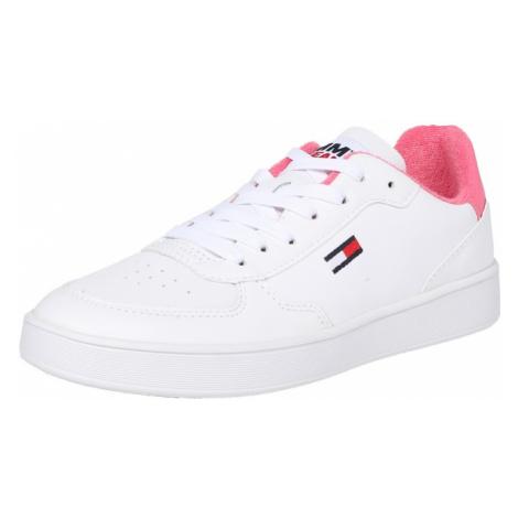 Tommy Jeans Trampki niskie biały / różowy pudrowy Tommy Hilfiger
