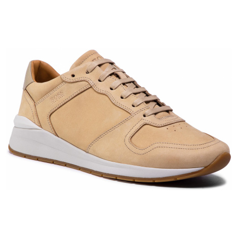 Sneakersy BOSS - Element 50432832 10227353 01 Beige/Khaki 250 Hugo Boss
