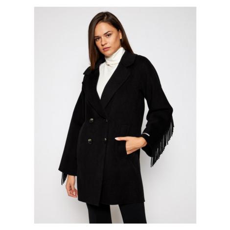 Marella Płaszcz wełniany Colour 30860106 Czarny Regular Fit