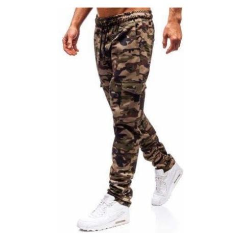 Spodnie bojówki męskie moro-zielone Bolf 0857