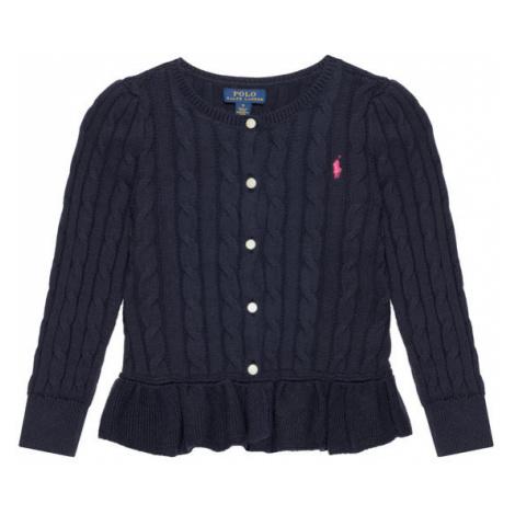 Polo Ralph Lauren Sweter Peplum Cardi 313737911005 Granatowy Regular Fit