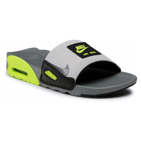 Klapki NIKE - Air Max 90 Slide CT5241 001 Smoke Grey/Smoke Grey/Volt