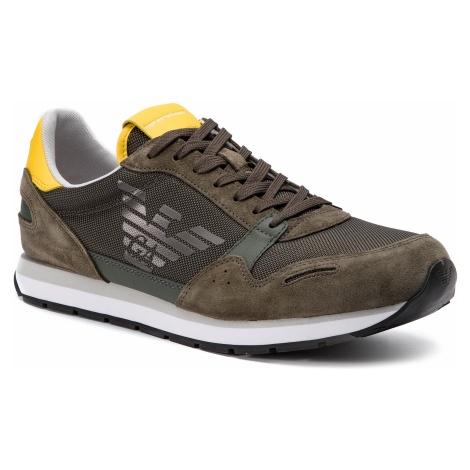 Sneakersy EMPORIO ARMANI - X4X215 XL198 D288 Ivy/Mandelion/Gunmet