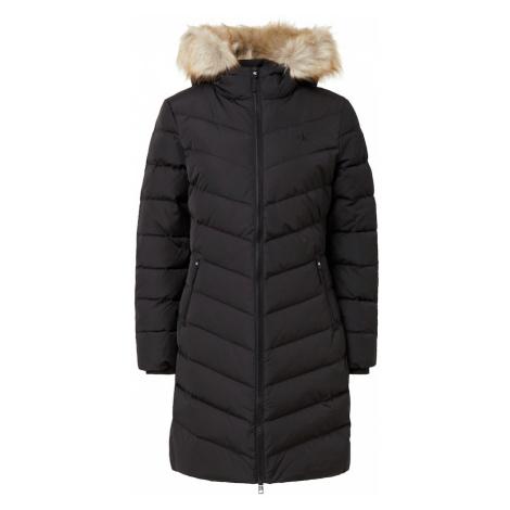 Calvin Klein Jeans Płaszcz zimowy czarny / beżowy
