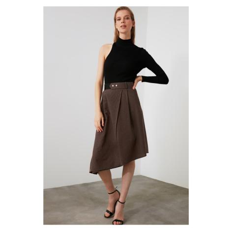 Trendyol Brown Button Detailed Skirt