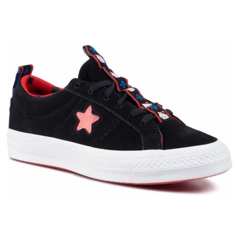 Tenisówki CONVERSE - One Star Ox 163904C Black/Fiery Red/White