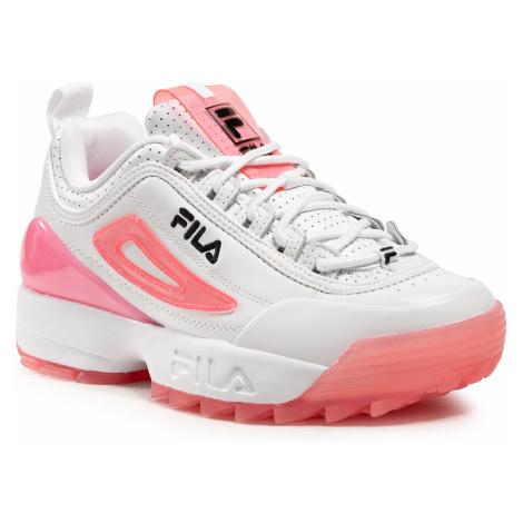 Sneakersy FILA - Disruptor Premium Wmn 1010862.94Q White/Calypso Coral