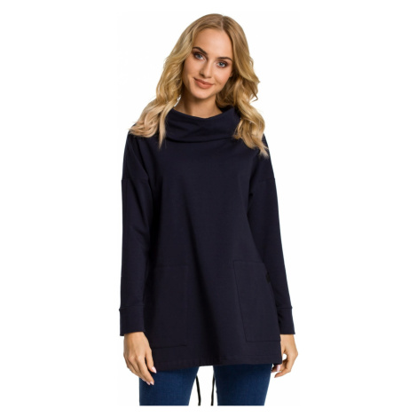 Made Of Emotion Woman's Sweatshirt M344 Navy Blue