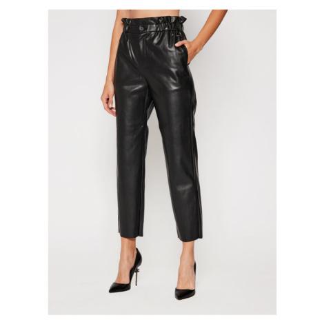 Pepe Jeans Spodnie skórzane Nika PL211412 Czarny Regular Fit
