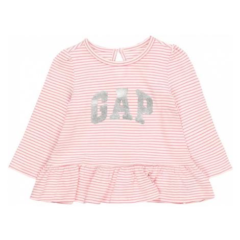 GAP Koszulka 'Arch' różowy pudrowy / biały / srebrny