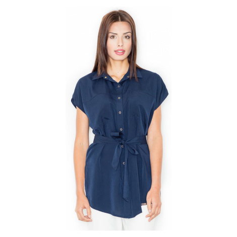 Figl Woman's Blouse M463 Navy Blue