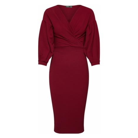 Boohoo Sukienka czerwone wino