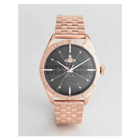 Vivienne Westwood VV192BKRS Conduit Bracelet Watch In Rose Gold