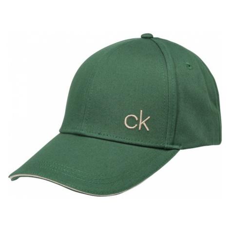 Calvin Klein Czapka z daszkiem 'CONTRATS EDGE' zielony
