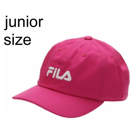 dziecięca czapka z daszkiem Fila Linear Logo - Pink Yarrow