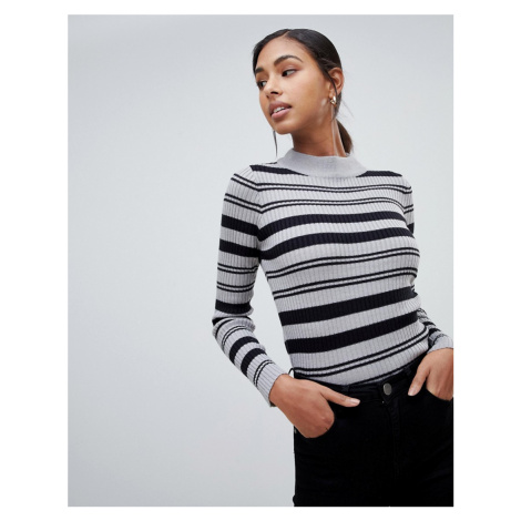 Brave Soul knitted jumper with funnel collar