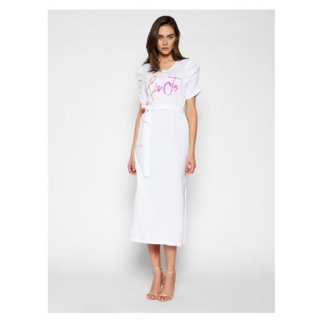 Liu Jo Sukienka codzienna WA1246 J5703 Biały Regular Fit