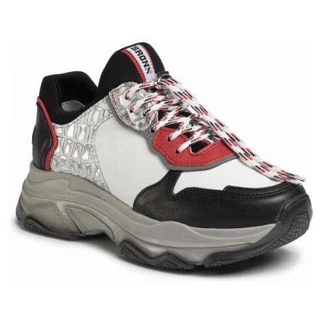 Sneakersy BRONX - 66167E-ML Black/Red/White/Silver