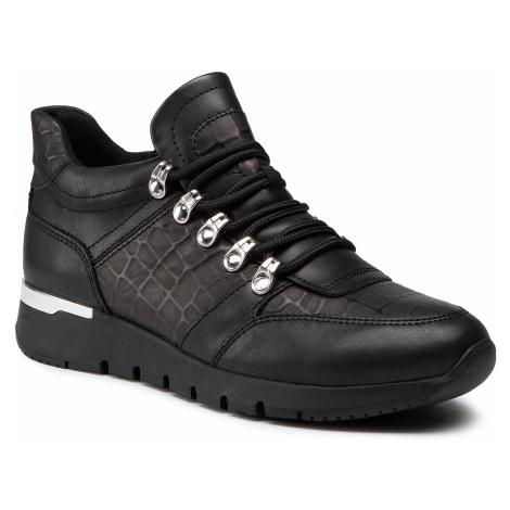 Sneakersy CAPRICE - 9-25200-25 Black Croco Co 039