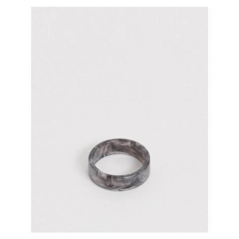 ASOS DESIGN resin band ring