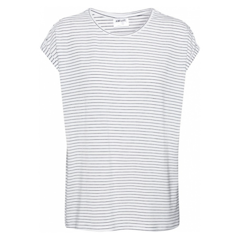 VERO MODA Koszulka 'AVA PLAIN' czarny / biały
