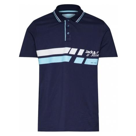 JACK & JONES Koszulka jasnoniebieski / ciemny niebieski / biały
