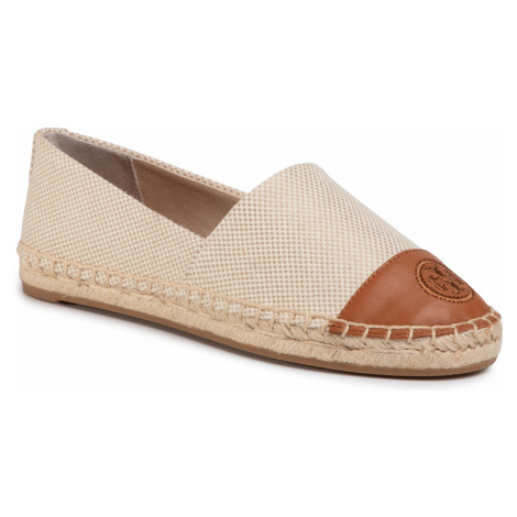 Espadryle TORY BURCH - Color Black Flat Espadrille 74058 Natural/Ambra 266