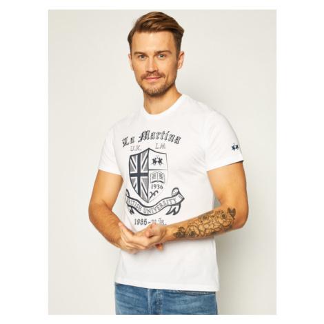 La Martina T-Shirt QMR016 JS206 Biały Regular Fit