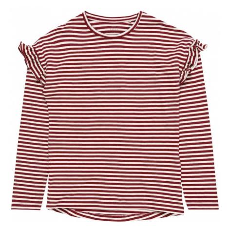 NAME IT Koszulka 'NKFVERDI' czerwone wino / biały