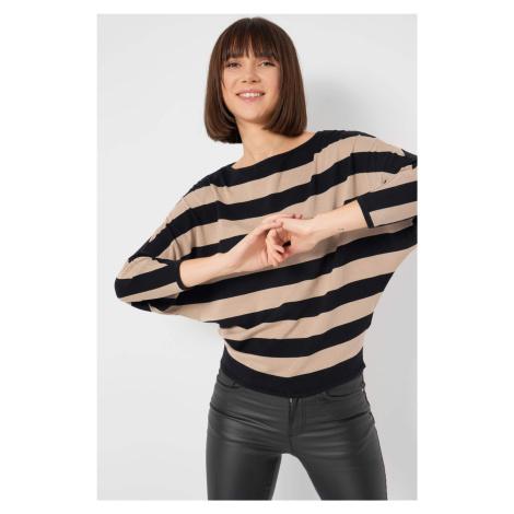 Sweter nietoperz w paski Orsay