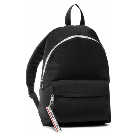 Plecak TOMMY JEANS - Logo Tape Backpack Nyl AW0AW08049 BLK Tommy Hilfiger
