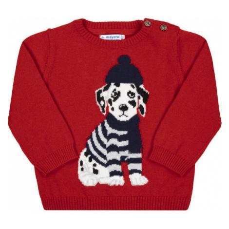 Mayoral Sweter 2324 Czerwony Regular Fit